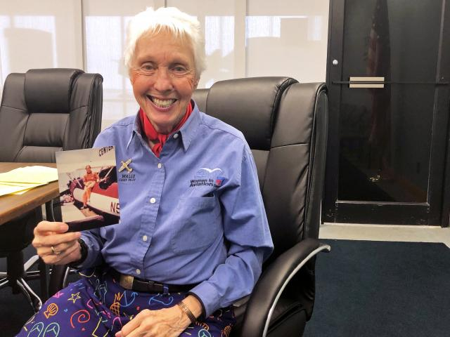 Pioneering female aviator Wally Funk. Photo: Reuters