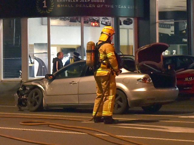 Emergency services attend a crash on the corner of Hillside and Andersons  Bay Rds at 7pm on...