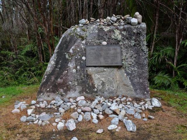 A memorial at Cave Creek with carefully chosen stones brought from the creek bed. Photo: supplied...