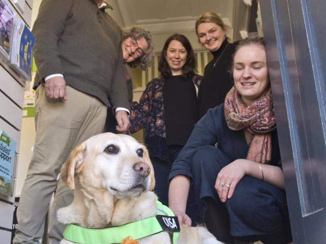 Student Support worker Ella with her colleagues (from left) Dwaine Tait, Rayna Dickson, Nicky...