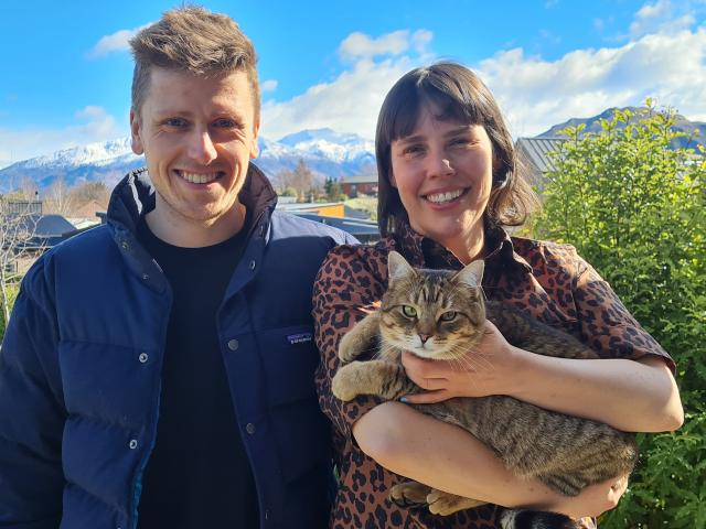 Wanaka business Kester Black's operations manager Fergus Sully and founder Anna Ross (holding...