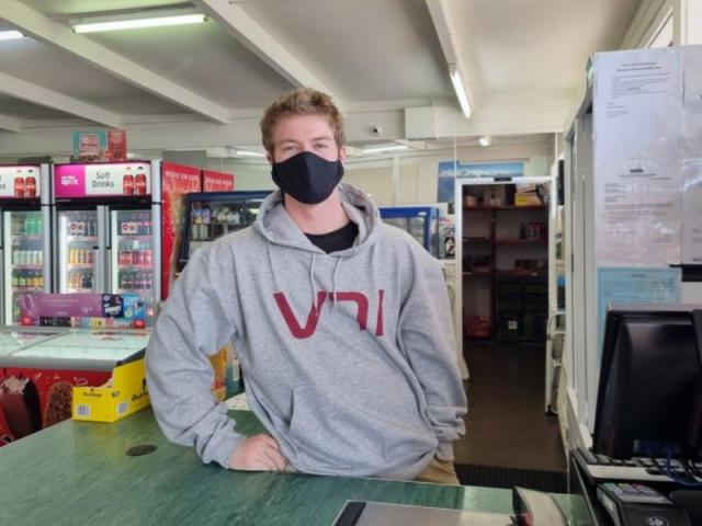 Sean Langton and his wife bought the Fox Glacier General Store earlier this year....