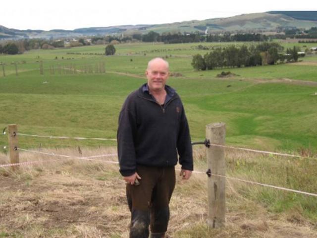 Shane David Gibbons on his Whare Creek farm. Photo: ODT files