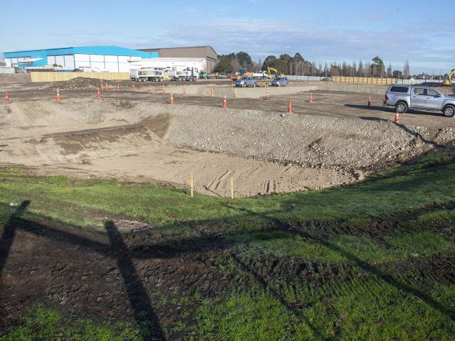 Construction is ready to start at the site on the corner of Waterloo and Smarts Rds. Photo: Geoff...