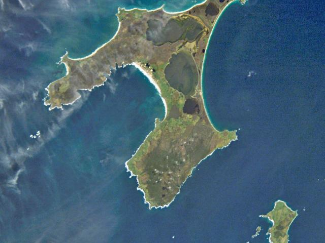 The Chatham Islands, from space. PHOTO: NASA