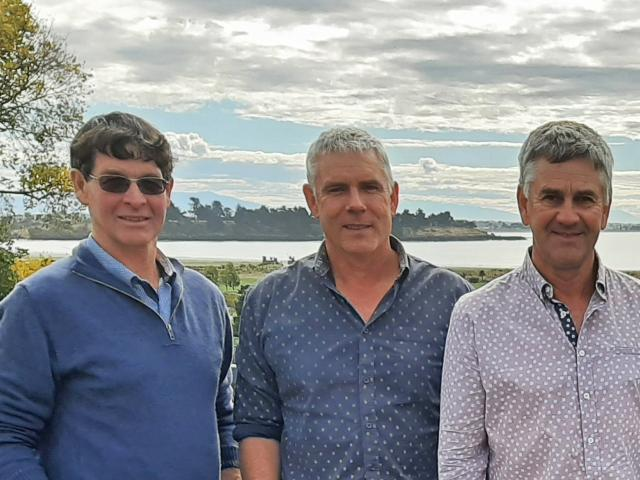 Catchments Collective South Canterbury Society elected officers (from left) Bill Wright, Glen...