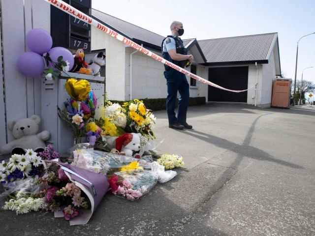 The public have begun leaving flowers and teddies outside a Queen St, Timaru house where the...