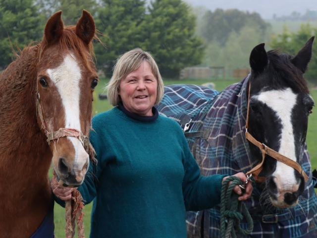 Gore woman Jane Allen says her horses Jimmy (left) and Jeremy were very compassionate during the...