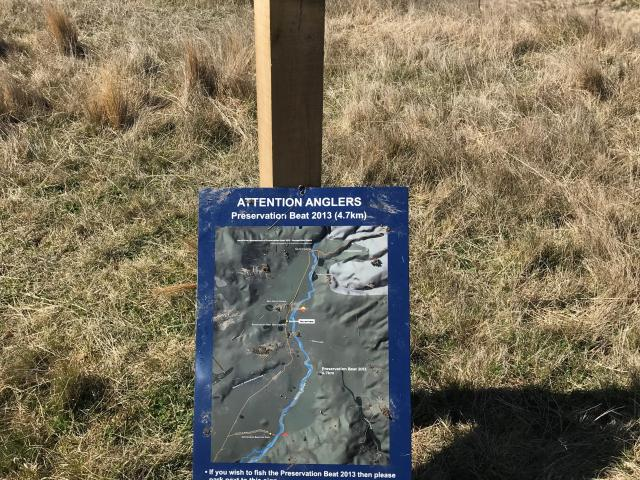 Otago Fish & Game wants to know why six of its anglers' signs, in the Nevis River backcountry...