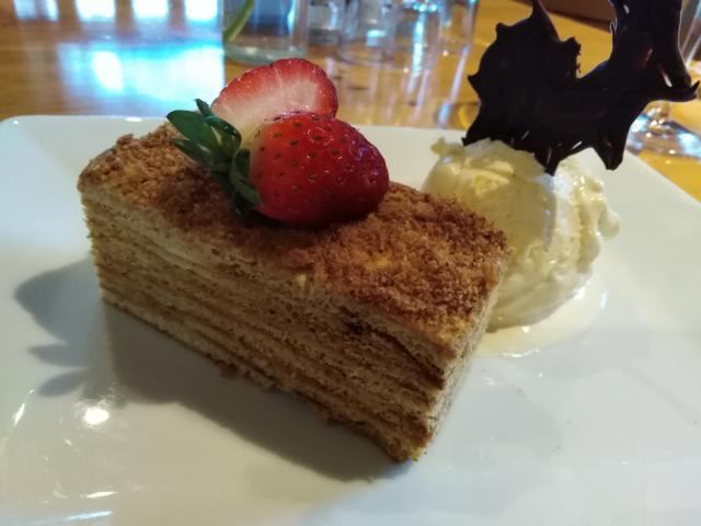 Roxburgh Lodge's honey cake. PHOTO: SUPPLIED