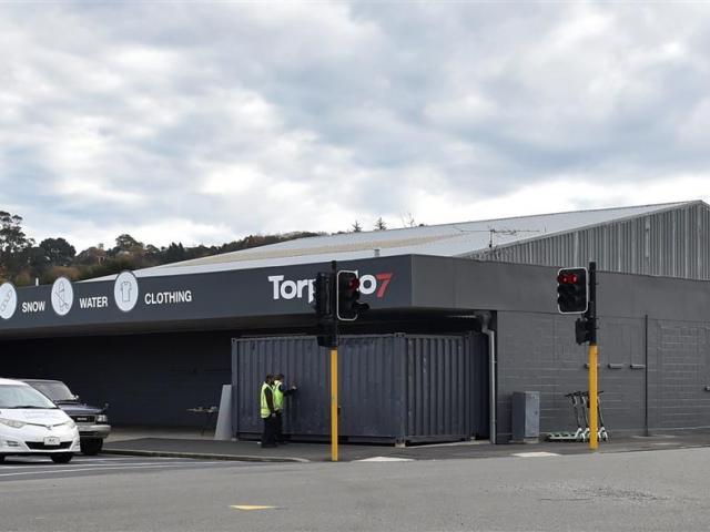 Dunedin's Torpedo7 premises in Andersons Bay Rd, near The Warehouse. Photo: Peter McIntosh
