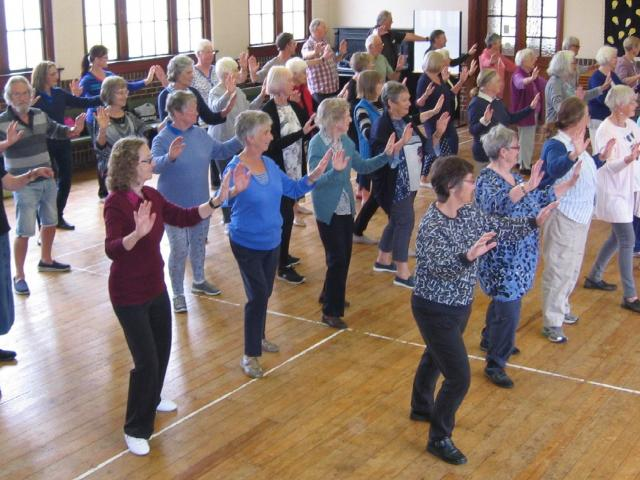 Prevention is key . . . Age Concern's classes, such as tai chi, are designed to prevent falls....