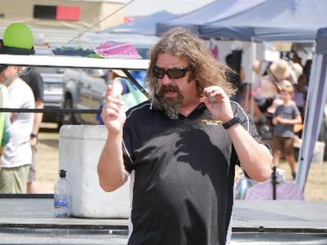 Performing...Magician Jonathan Usher conjures at last year's Brighton Gala Day. PHOTO: THE STAR...