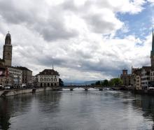 The spires of Zurich rise  near the Limmat river in Zurich's heart. PHOTO: CRAIG BAXTER...