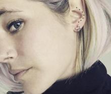 Me in my Jane Eppstein Origins earrings