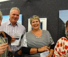 Lisa O'Neill of Levin, Father Martin Flannery, Jen Anderson, and Sue Anderson, all of Wanaka.