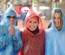 Cruise ship passengers (from left) Gina and Kayla Notarianni and Brooke Allan, all from Sydney,...