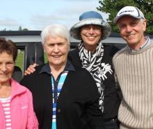 Lynette Willocks and Leola Milne, both of Balclutha, and Anneloes and Trevor Douglas,  of Dunedin.