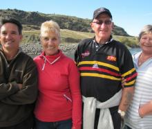 Anthony and Liz Marino, of Albert Town, and Tony and Raewyn Perrin, of Paeroa