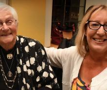Yoka Neuman (left) and Jo Taylor, both of Dunedin.