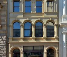Ted Daniels' award-winning Standard Building in Princes St, Dunedin. Photo: Gerard O'Brien.