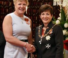 Raylene Bates, of Mosgiel,  MNZM for services to sport. Photos: Government House.