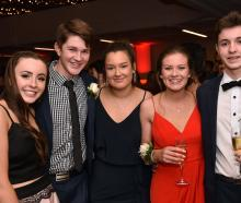 Ella Woods (16) of Kavanagh College, Tom McCallion (16) of Kings High School, Sadie Bleach (16) of Kavanagh College, Lilly McKewen (16) of Kavanagh College and Jack Kubala (17) of Kavanagh College