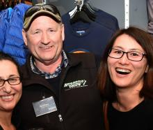 Sharon Burger, Mark Dixon and Yayoi Yoshikawa, all of Dunedin.