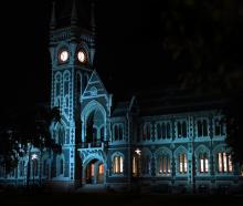 Dunedin landmarks lit in blue lights last Sunday to raise awareness of World Diabetes Day...
