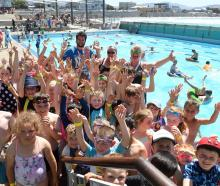About 80 children participating in the Magic holiday programme took a dip at the St Clair Hot Salt Water Pool yesterday. Photos: Stephen Jaquiery
