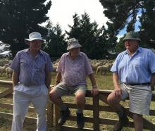Roger Taylor (left), Roger Mason (centre) and Malcolm Inch, all of Darfield, chat about ewe fairs...