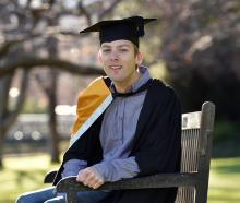 Economics student Shaun Markham at the University of Otago. Photo: Peter McIntosh