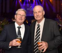 Brothers Tony Guy (left) and 1971-2 All Black prop and former New Zealand Rugby chairman  Richie...