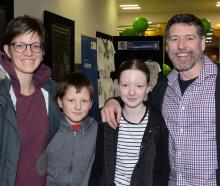 Theresa and Wayne Alcock, of Brighton, with their children Spencer (9) and Matilda (13).
