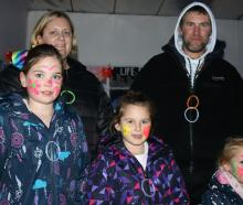 Sophie Bruhns (7), Kristy Davis, Arleigha (7), Stephen and Caylee (4) Blissett, all of Alexandra.