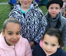 Clockwise (from left) Madeleine John (7), of Alexandra, Amber Gemmell (8), of Wanaka, Joel Gemmell (6), of Wanaka, and Esther John (5), of Alexandra.