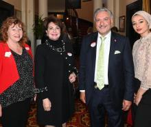 Dunedin South MP Clare Curran, of Dunedin, consul Henriette Nakhle, of Auckland, Cedars of...
