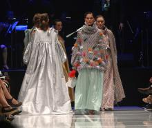 Amy Louise Redford, from the Manchester Fashion Institute, UK, whose creations include a multiple...