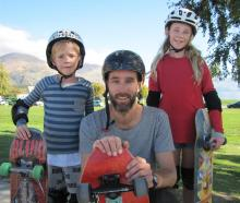 Chris (8), Matthew and Eleanor (10) Jenks, of Dunedin.