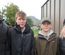 Gerald, Finn (14), Jack (14) and Leigh Duncan, of Dunedin.