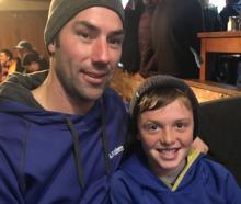 Richard McKinlay and Fletcher Hawken (10), both of Dunedin.