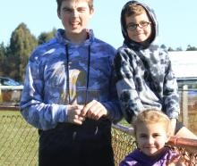 Braydon Edwards (17), and Ari (7) and Ada (6) Edwards-Smith, all of Oamaru.