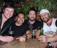 Tim Boys, of Winton, Sonny Rangitoheriheri, of Bluff, and Nick McGrath and Pehitaia Te Whare,...