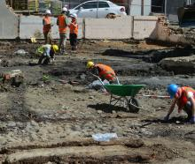 The archaeological team works on the site in 2016. PHOTO: GERARD O'BRIEN