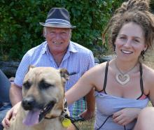 Gary Crowley and daughter Erin Crowley with Lucy, all of Queenstown.