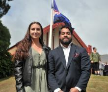 Jazmine O'Kane and Matt Matahere, of Dunedin.