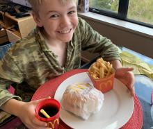 Jordan Genever celebrated his 11th birthday with a home-made McDonald's meal in Balaclava. PHOTO:...