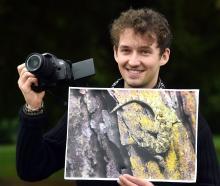 University of Otago postgraduate wildlife management student Samuel Purdie, the overall winner of...