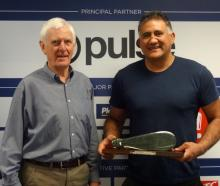 Former Highlanders coach Jamie Joseph (right) with former All Blacks assistant coach and...