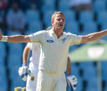 Neil Wagner took two of the three South African wickets to fall on day one. Photo Getty